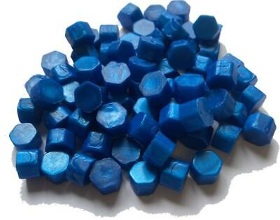 Peacock Blue Sealing Wax Beads for Envelopes & Invitations, approx 250 beads