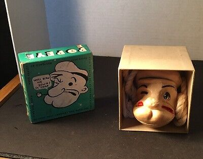 popeye bath ball soap on a rope 1930 never used