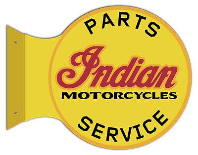 Indian Motorcycle Flange Cut Out Garage Shop Metal Sign 15x17.5