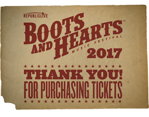 2 Boots and Hearts Tickets + Campsite - Full Event Admission
