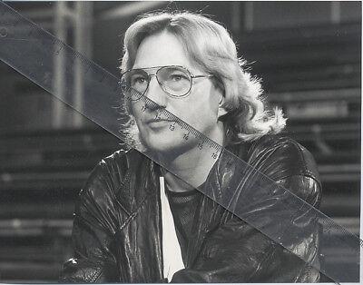 Foto deutscher Sänger HANS HARTZ - Vintage von 1984 SW Pressefoto - Liedermacher