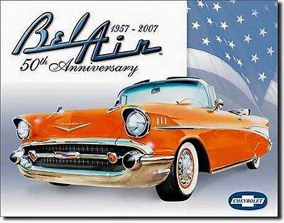 Chevy 50er Bel Air Chevrolet 50th Anniversary V8 Blechschild Plakat Schild  *889