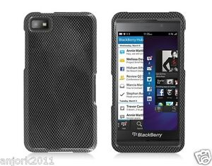 blackberry z10 laguna snap on case cover accessory carbon fiber print. Black Bedroom Furniture Sets. Home Design Ideas