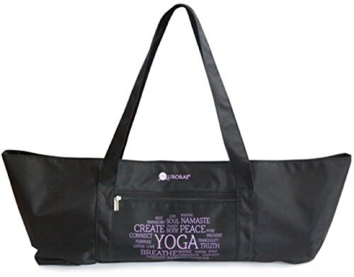 Aurorae Yoga Mat Tote Bag, Extra Wide To Fit Most Yoga Mats