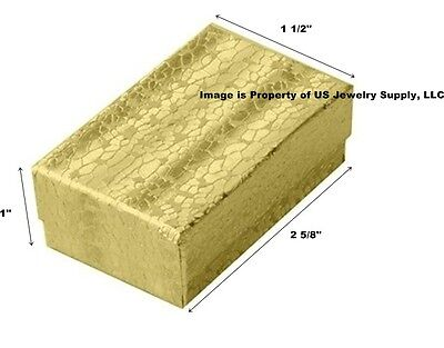 Wholesale 1000 Gold Cotton Fill Jewelry Packaging Gift Boxes 2 5/8 x 1 1/2  x 1