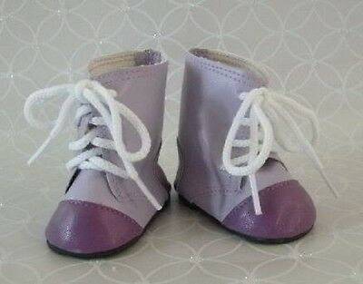 Lovvbugg Lavender and Purple Two Tone Boots for American Girl 18 inch and Bitty Baby 15 inch Doll Clothes Shoes