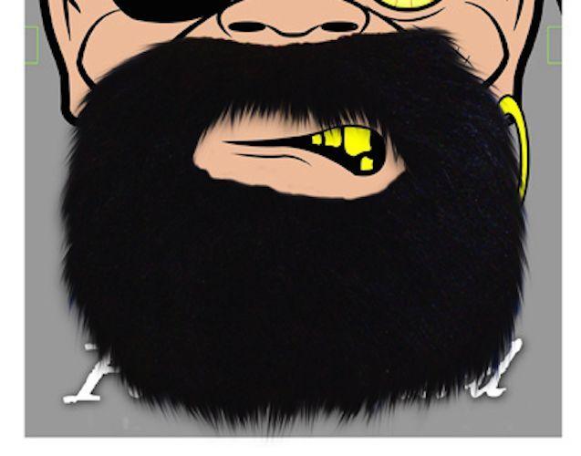 Fake Black Beard Tache False Moustache Tash Joke Pirate Elasticated Stick On