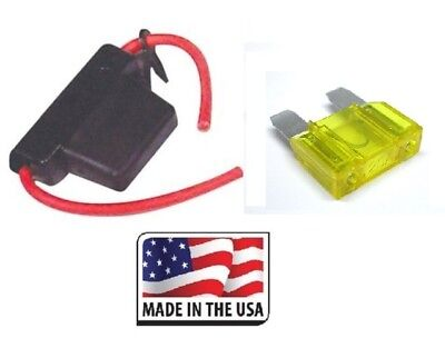 10 GAUGE INLINE MAXI FUSE HOLDER WITH WATERPROOF COVER INCLUDES 20 AMP FUSE USA