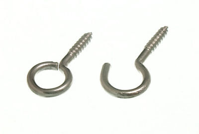 Curtain Net Wire Screw In Frame Hooks CP Chromed Steel Pack Of 100