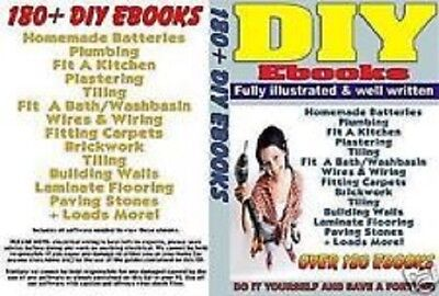 180+ DIY eBook Collection on CD + Resale Rights