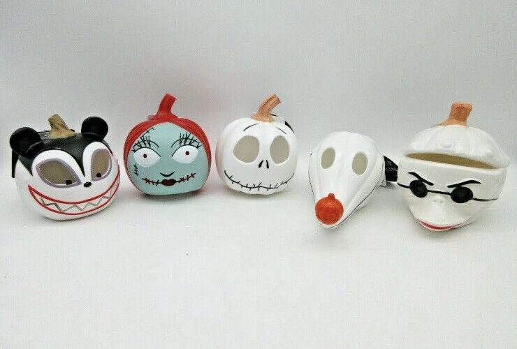 Disney The Nightmare Before Christmas Halloween Mini Light Up Pumpkins Lot of 5