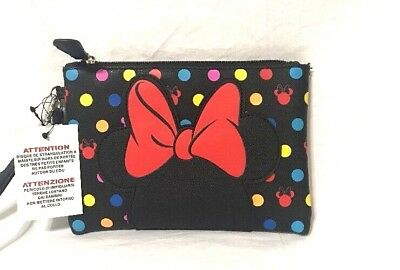 Disney Parks Minnie Mouse Bow Polka Dots Rock The Dots Wallet Clutch  ()
