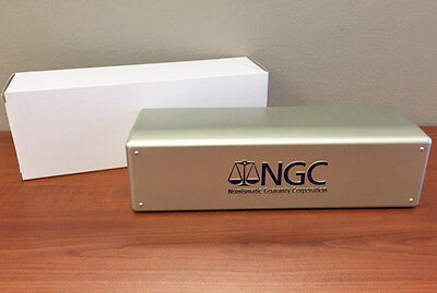 SILVER BOX Brand New NGC Storage Plastic Box ~ Holds 20 NGC Slabs.