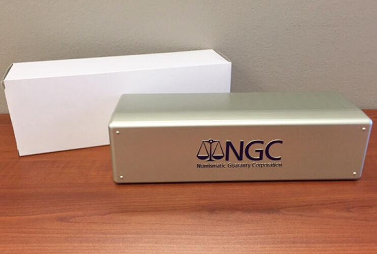SILVER BOX Brand New NGC Storage Plastic Box ~ Holds 20 NGC Slabs.