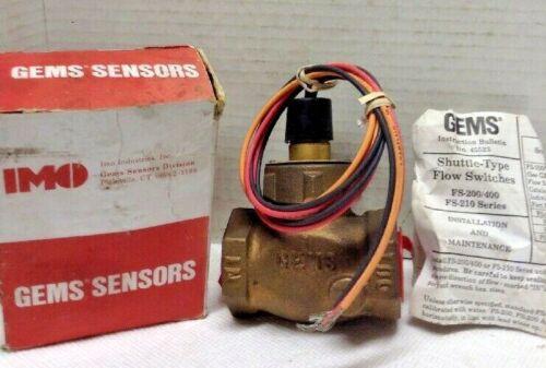 """GEMS FS-200 Flow Switch, 1"""" 50-240VAC"""