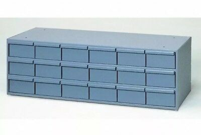 Metal 18 Bin Storage Drawer Cabinet Steel Parts Nuts Bolts Fasteners Screws