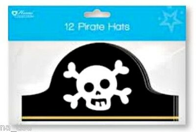 12 small PIRATE HAT kids paper Party birthday costume fancy dress Capitan Hook](Paper Pirate Hat)