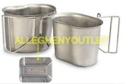 USGI Military Issue Stainless Steel CANTEEN CUP 1qt Canteen Cup MINT