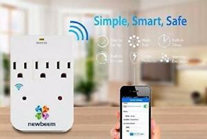 Weekly Promo! Newbeem Smartoutlet,Wifi smart dimmer, smart timer, smart outlet, remote control,surge protect $14.99(was$