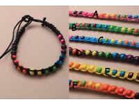 Bright coloured bead and cord friendship bracelet. - JTY037