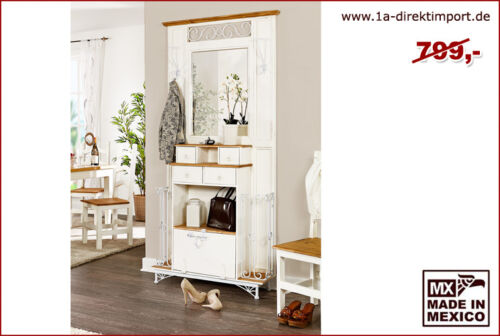 mexico garderobe wei honig pinie massiv spiegel. Black Bedroom Furniture Sets. Home Design Ideas