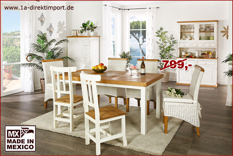 mexico esstisch tisch holz pinie marmor mosaik wei honig neu in dortmund dortmund h rde. Black Bedroom Furniture Sets. Home Design Ideas