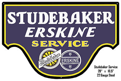 Studebaker Erskine Reproduction Metal Laser Cut Out 18.5×20
