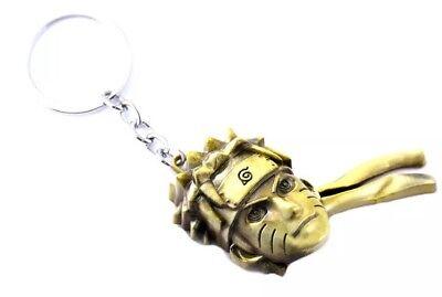 Naruto Head Face Keychain Gold 5cm Anime US Seller
