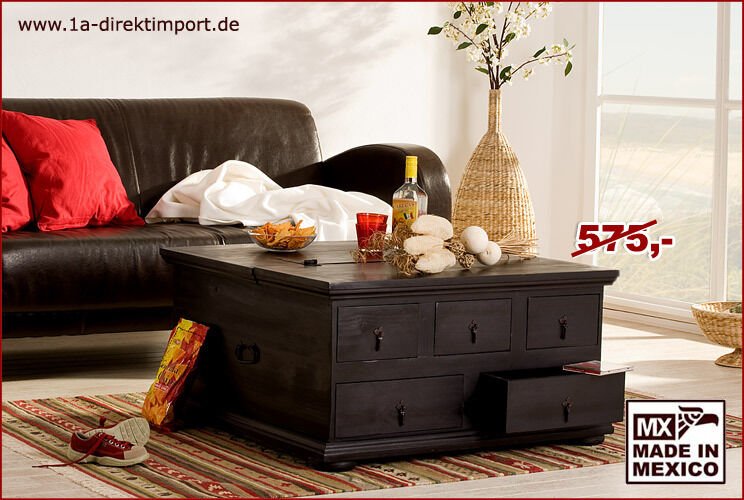 kolonialstil truhentisch couchtisch mexico kolonial pinie massiv in dortmund dortmund h rde. Black Bedroom Furniture Sets. Home Design Ideas