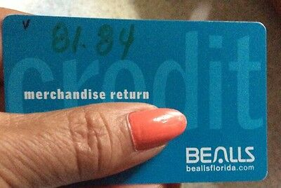 Bealls Dept Store Credit Card With Balance Of  81 84  Does Not Expires