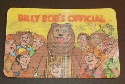VINTAGE 1984 SHOWBIZ PIZZA BILLY BOB'S OFFICIAL FAN CLUB 3D MOTION CARD RARE
