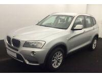 Silver BMW X3 2.0 se d X drive Auto Diesel 2011 FROM £51 PER WEEK!