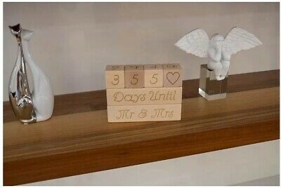 Wedding Countdown Calendar Wooden Blocks Unique Funny Engagement Gift For Couple