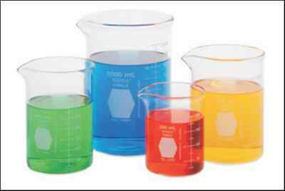4 Beaker Set 250 400 600 1000ml Griffin Kimax Glass Beakers Lab New