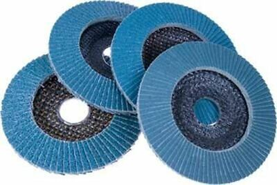 Blue Zirconia 4-12 120 Grit Flap Flapper Grinding Sanding Wheels Paddle Discs