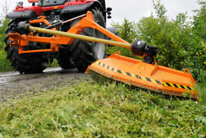 Off Set Mower for Road maintenance with swinging chain !