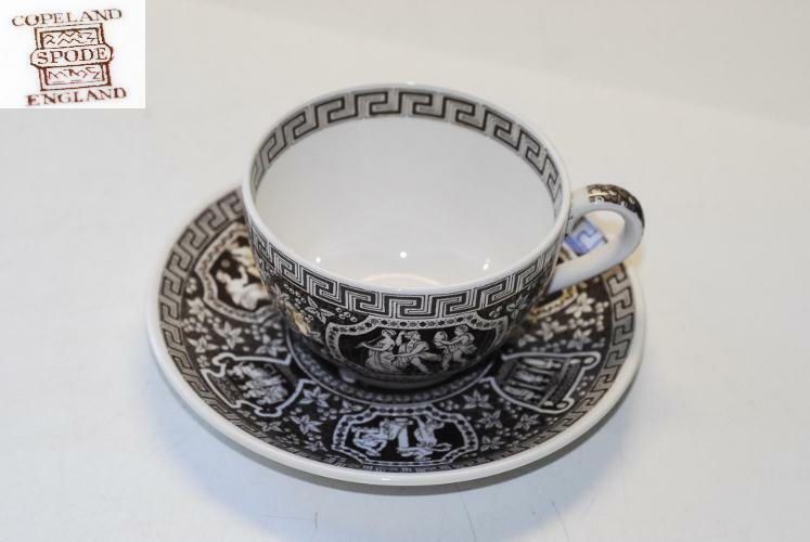 Spode GREEK Brown CUP CUPS & SAUCER SAUCERS