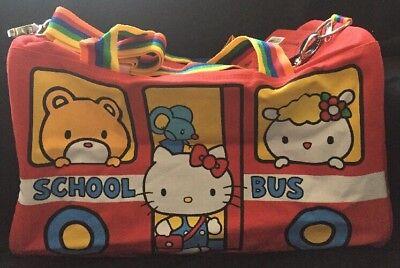 Hello Kitty School Bus (Sanrio Hello Kitty Con 2014 40th Anniversary Red School Bus Duffle Bag Gym)