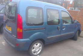 Renault Kangoo Driver Side Rear Door In Blue (2005)