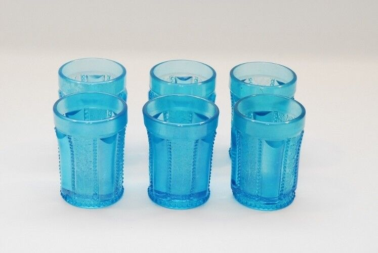 6 St Clair Holly Band Blue Tumbler Tumblers 3 7/8 Inch