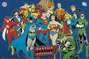 JUSTICE LEAGUE - CLASSIC DC COMICS POSTER - 24x36 - SUPERMAN BATMAN 160357
