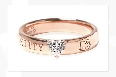 sanrio limited hello kitty cubic zirconia heart logo ring quot