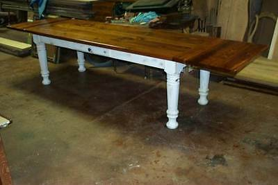 Reclaimed Heart Pine - Heart Pine Harvest/Dining Table, Rustic, Handcrafted, Reclaimed, Farmhouse, barn