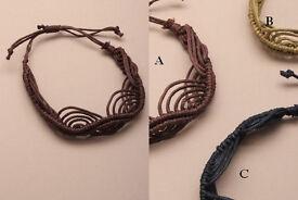 Twisted swirl natural cord bracelet. - JTY025