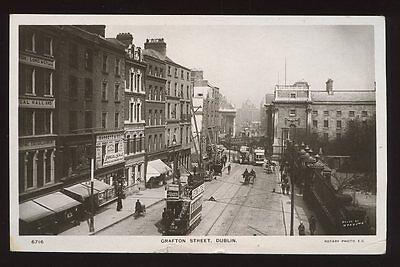 Ireland DUBLIN Crafton St RP PPC tram #103