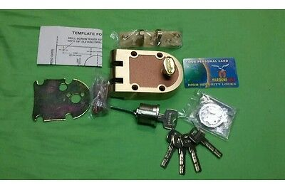 Maxtech Deadbolt With High Security Cylinder With 5 Keyssolid Brass.