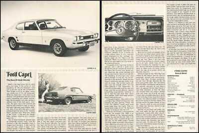 1973 Ford Mercury Capri Original Car Review Report Print Article J720A Review Mercury Capri