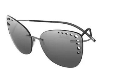 Silhouette TMA ICON 8157/60/6220 Matte Grey Lens Silver Mirror Sunglasses Frames