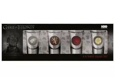 Game Of Thrones Shot Glasses - Official Gift Present HBO