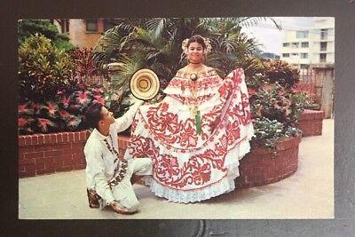 Vintage La Pollera Smiles National Costume Boy And Girl - Panama